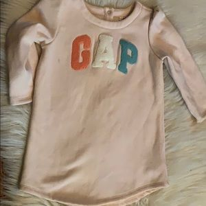 Baby Gap pink sweat shirt dress & sweater leggings